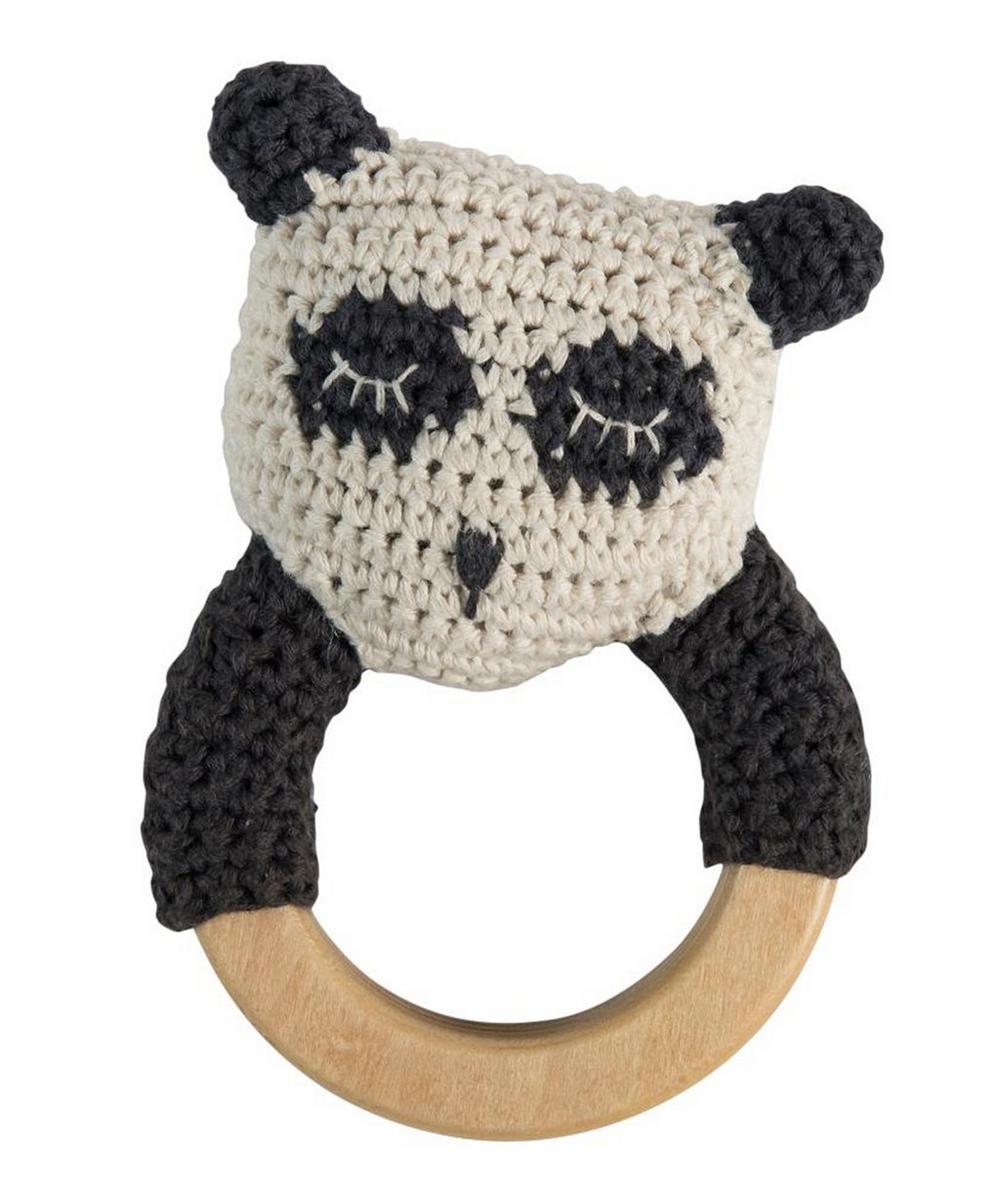 Crochet Panda Ring Rattle