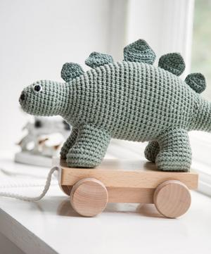 Crochet Dino Pull-Along Toy