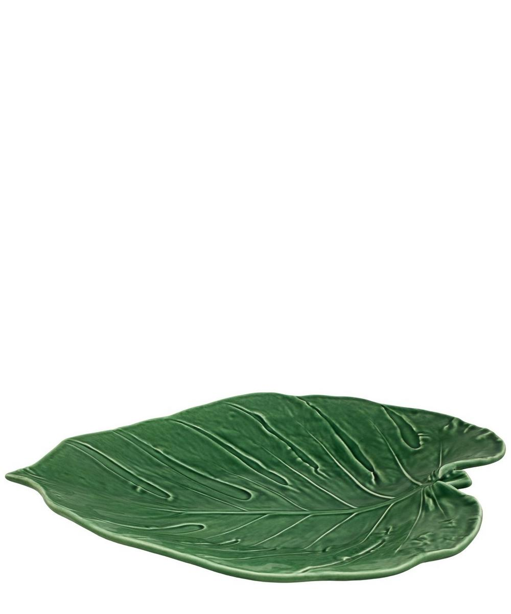 Swiss Cheese Leaf Platter