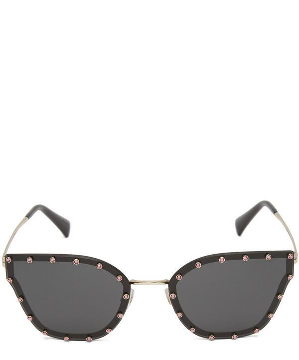 Crystal Cat-Eye Sunglasses