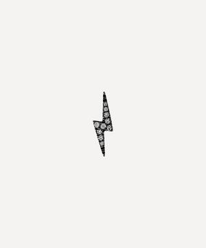 Diamond Lightning Bolt Threaded Stud Earring