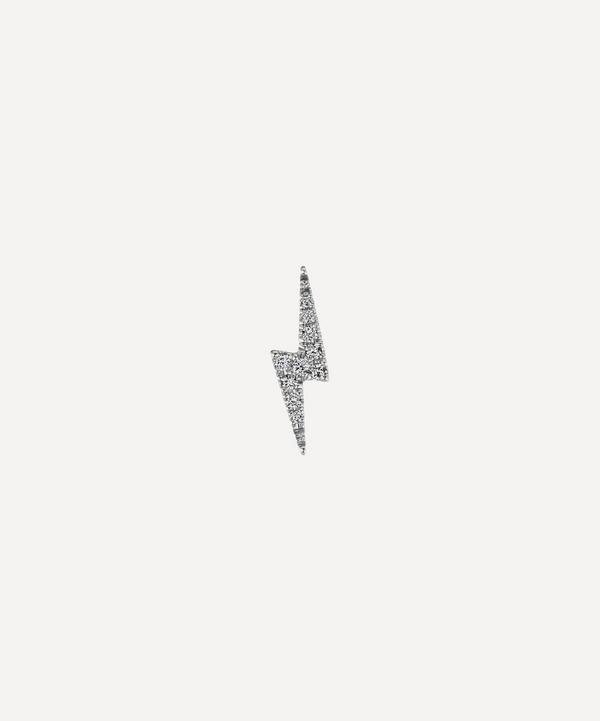 Maria Tash - 18ct Diamond Lightning Bolt Single Threaded Stud Earring