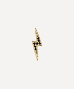 Black Diamond Lightning Bolt Threaded Stud Earring