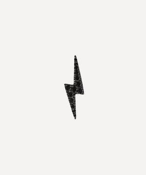 Black Diamond Lightning Bolt Threaded Stud Earring