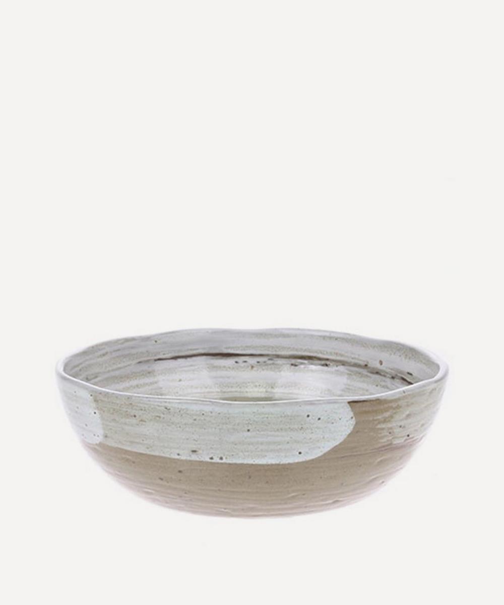 Kyoto Ceramics Brushed Noodle Bowl