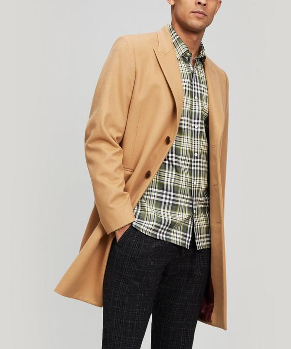 Camel Cashmere and Wool-Blend Overcoat