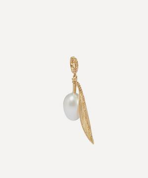 18ct Gold Pearl Olive Seed Charm