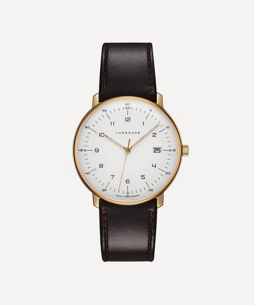 Leather Max Bill Quartz Watch