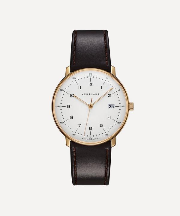 Leather Max Bill Quartz Watch
