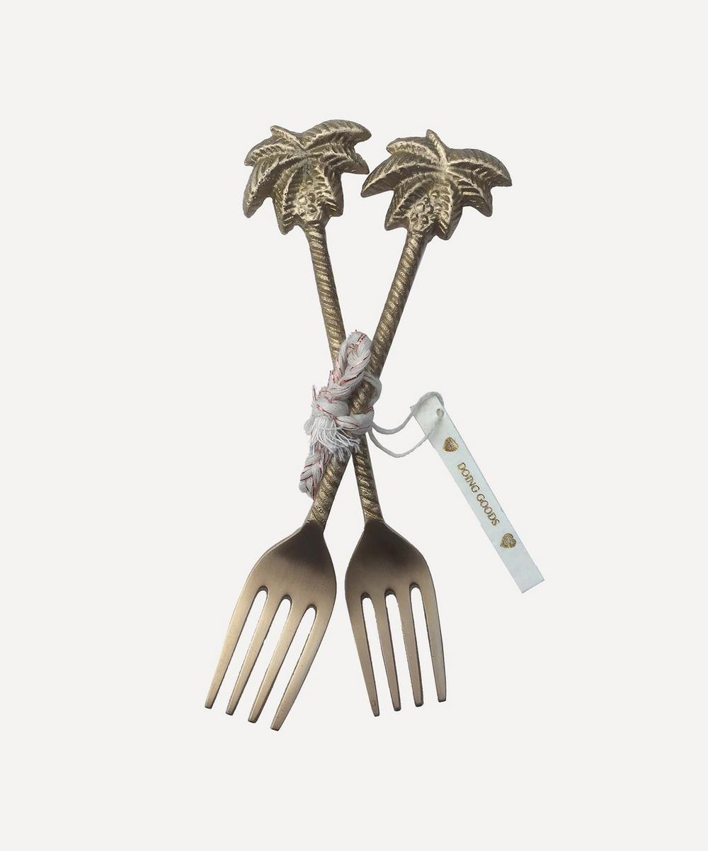 Lulu Palm Tree Fork Set of Two