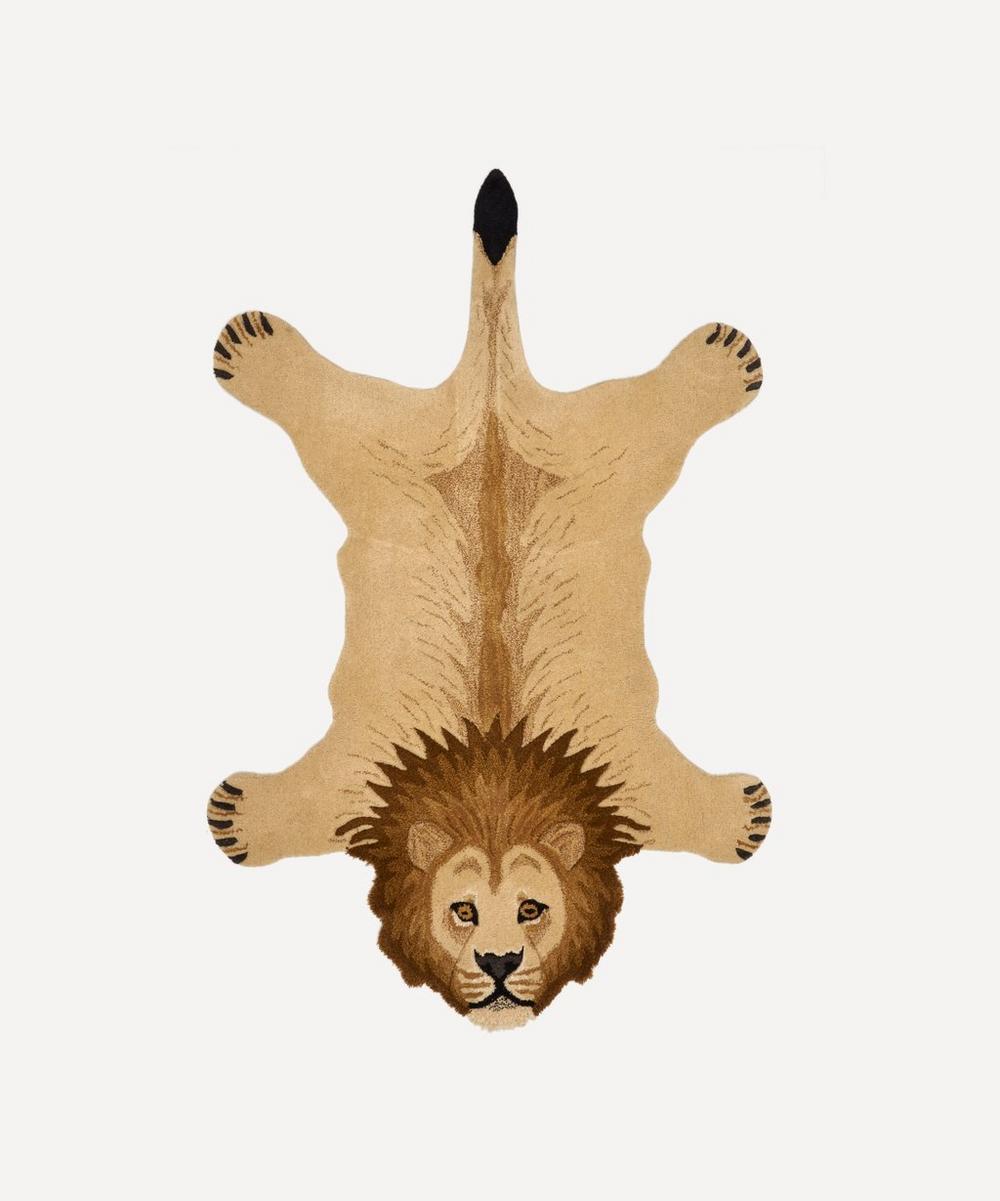 Large Moody Lion Rug