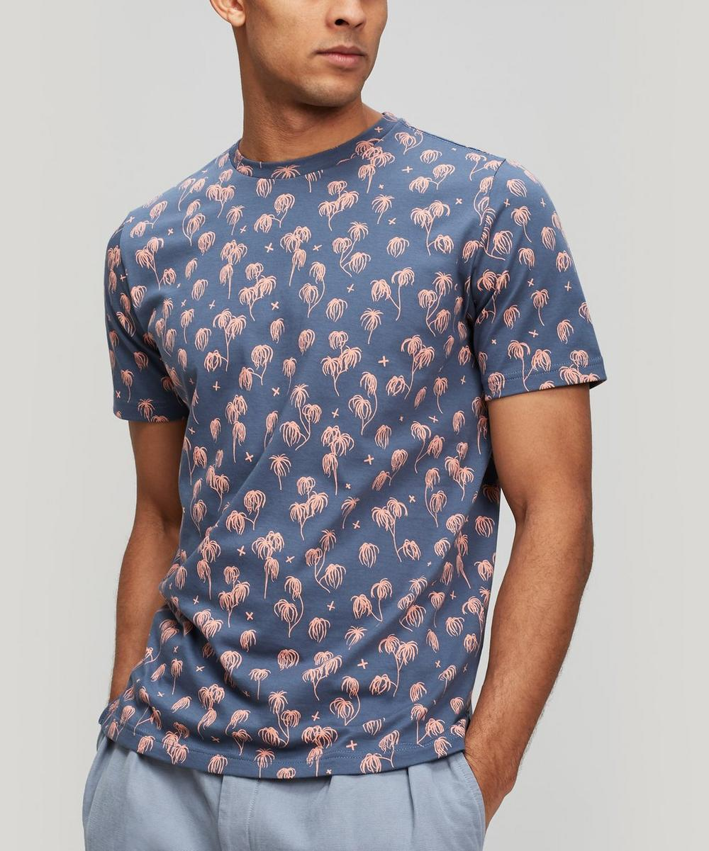 Palm Tree Print Cotton T-Shirt