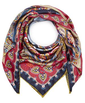 Hathi 90 x 90cm Silk Twill Foulard Scarf