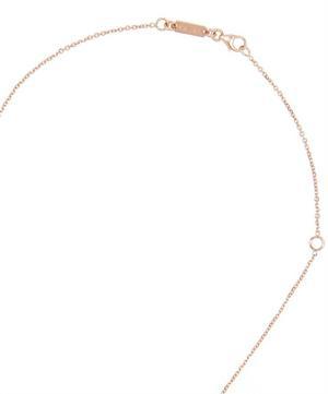 Rose Gold Rainbow Moonstone Diamond Bar Necklace