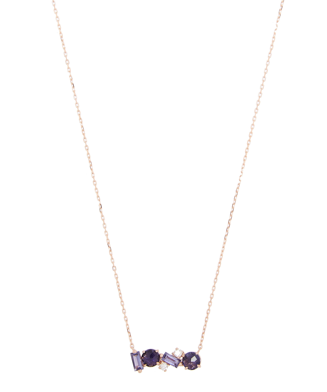 86fada926 Rose Gold Iolite Diamond Bar Necklace | Liberty London