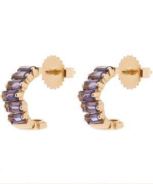 Gold Iolite Small Hoop Earrings
