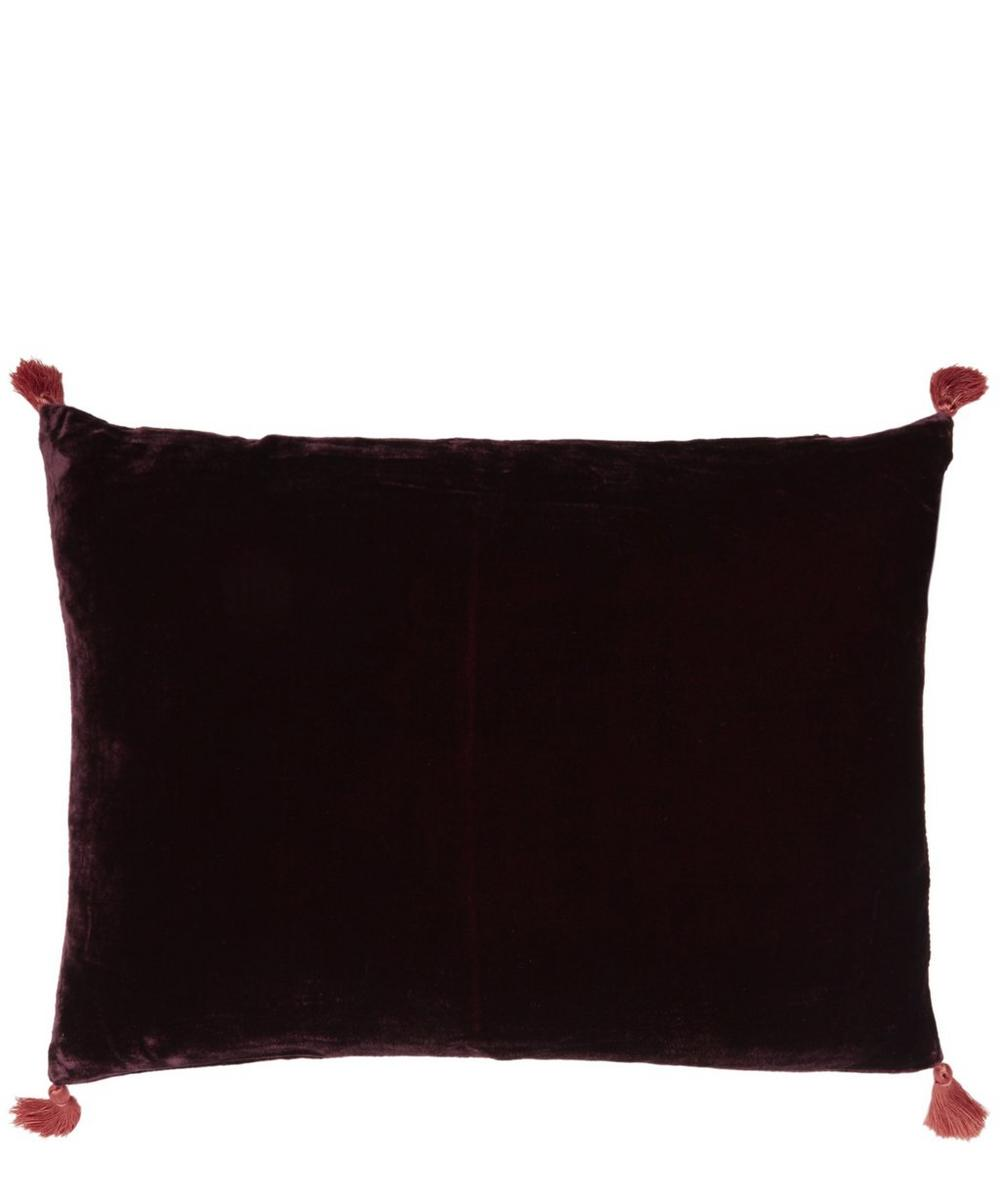 Tasselled Velvet House Cushion