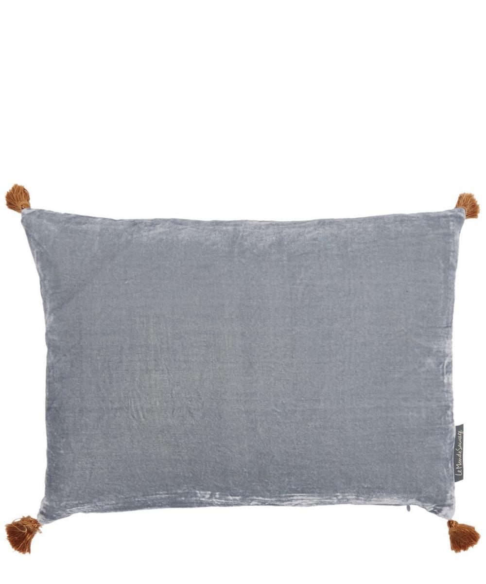 Tasselled Velvet House Cushion