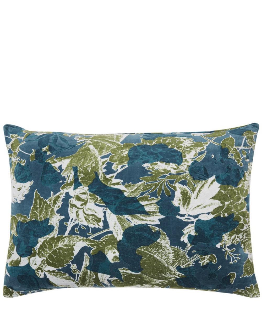Blue Forest Cotton Cushion