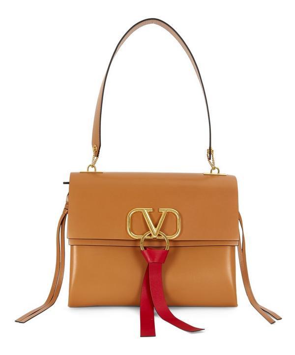 54d78ae2c5 V-Ring Medium Leather Shoulder Bag ...