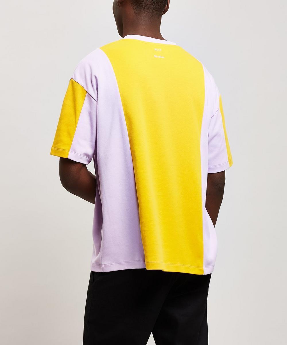 Eban Stripe Block Panel Cotton T-Shirt