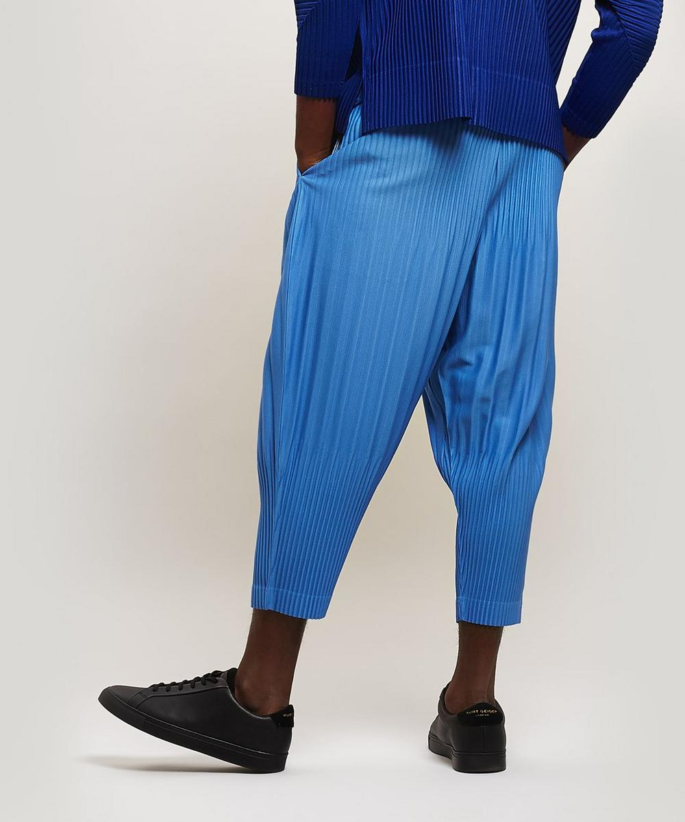 Cropped Pleated Trousers