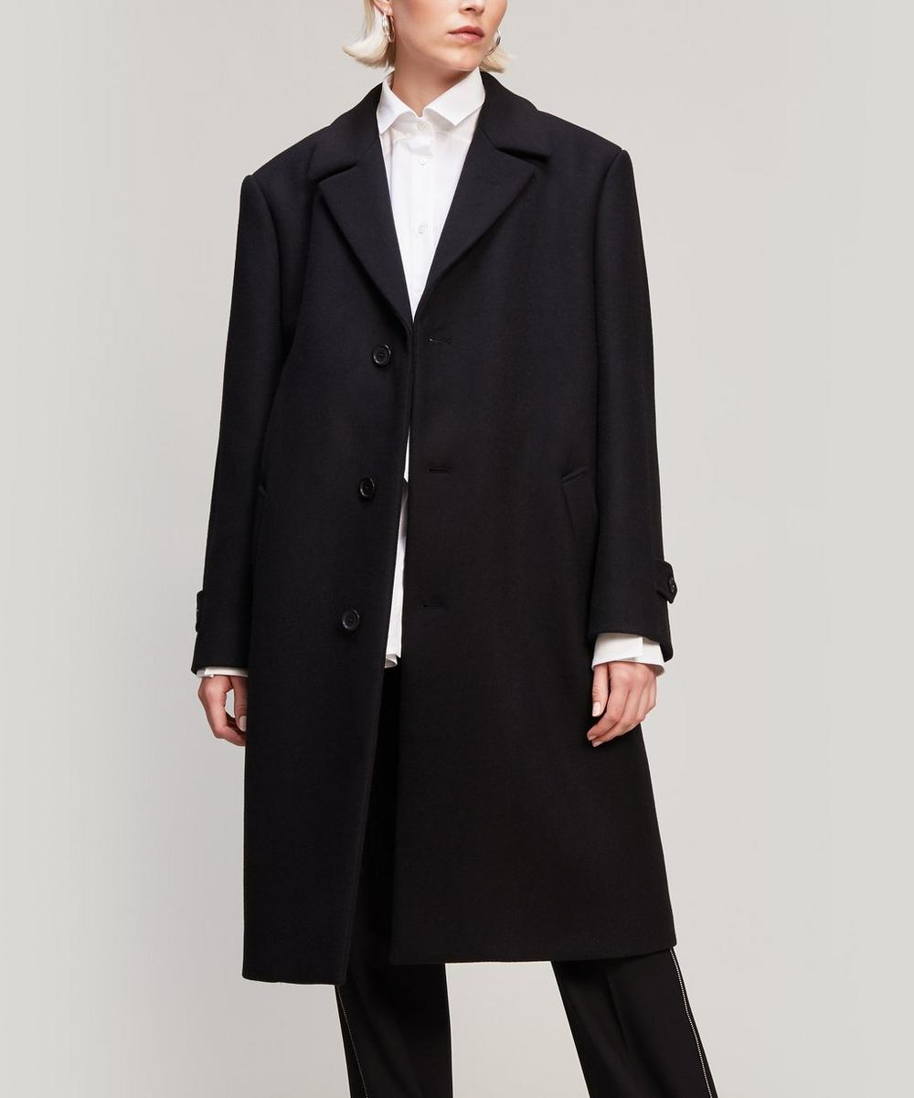 Cut-Out Wool-Blend Overcoat