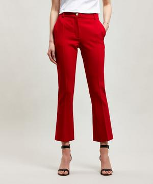 Flared Wool and Silk-Blend Trousers