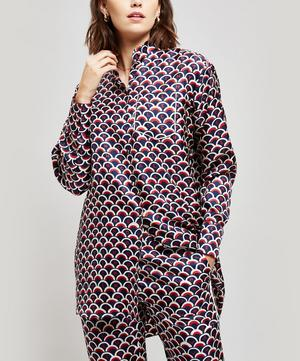 Logo Scale Print Silk Pyjama Shirt