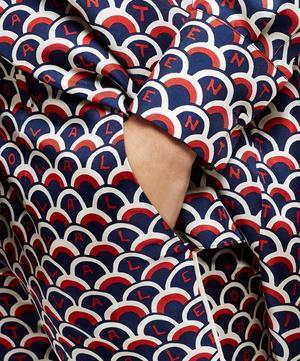 Logo Scale Print Silk Pyjama Trousers