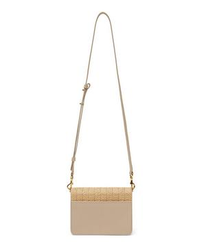 Mini Raffia Logo Cross-Body Bag