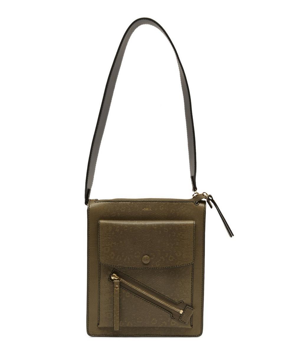 Mortimer Lizard Print Shoulder Bag