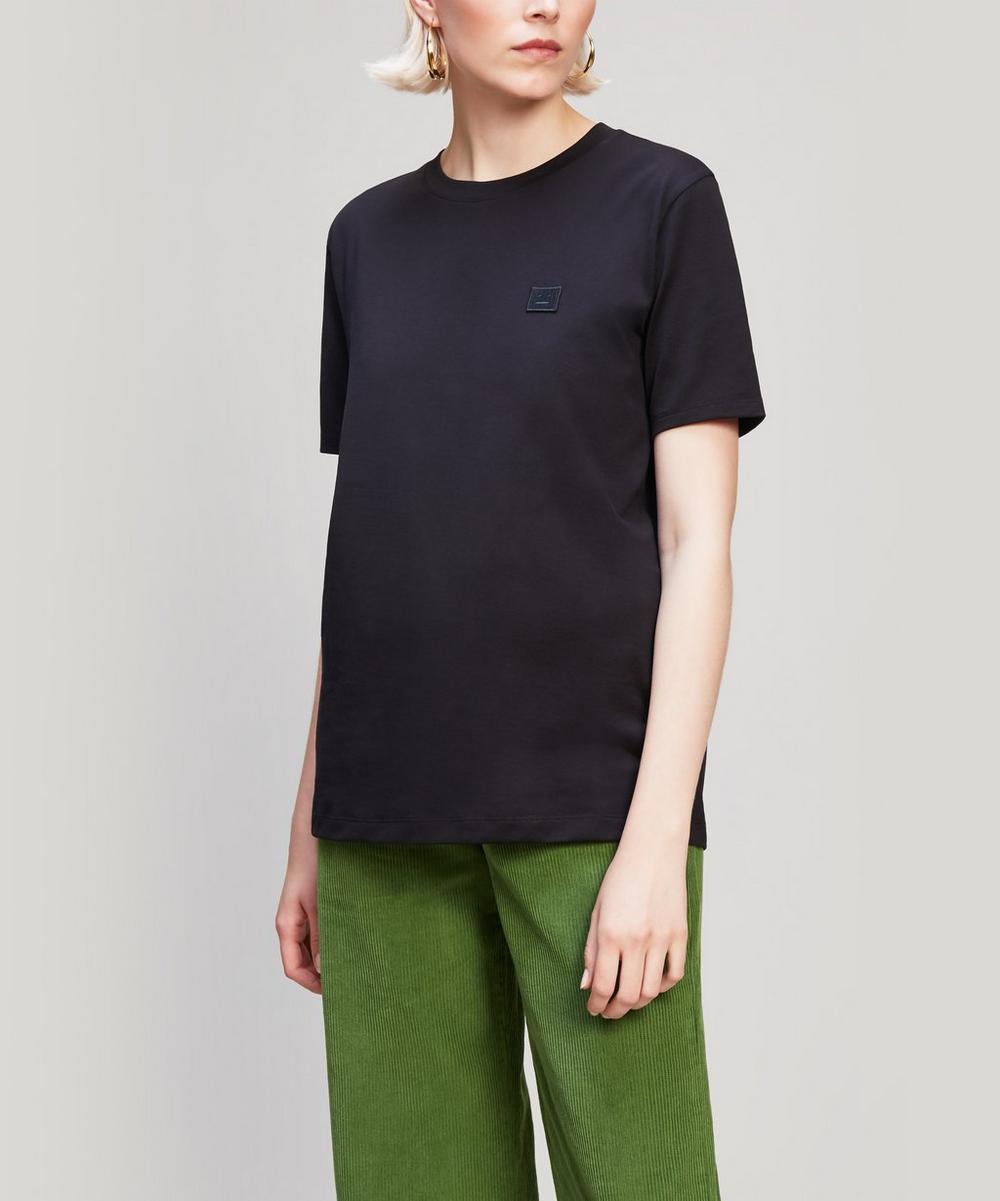 Ellison Face Patch Long Cotton T-Shirt