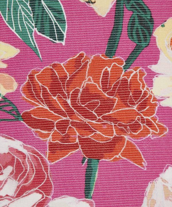 Large Flowers Silk