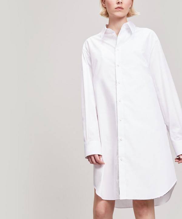 fddbbb8578ec58 Silver Trim Mannish Cotton Shirt ...