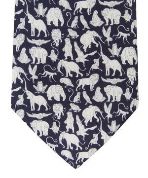 Arthur's Ark Printed Silk Tie