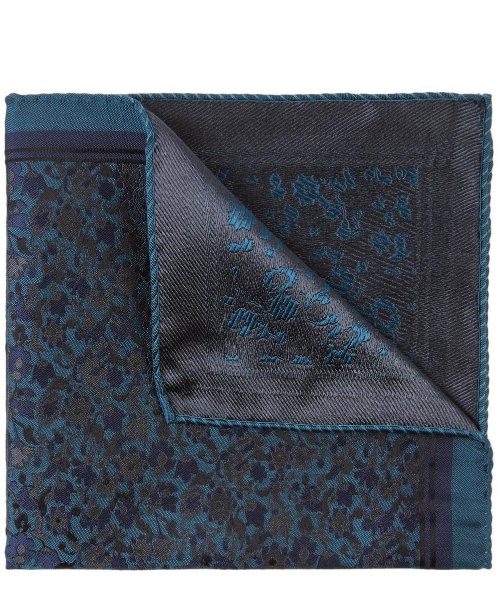 Amber Fields Silk Jacquard Pocket Square