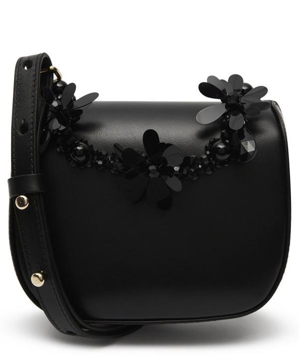 Mini Leather Floral Beaded Cross-Body Bag ... e46e52311f527