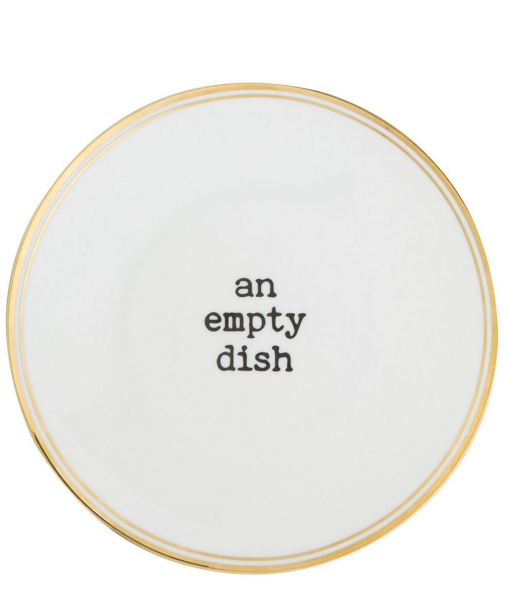 An Empty Dish Decal Fruit Plate