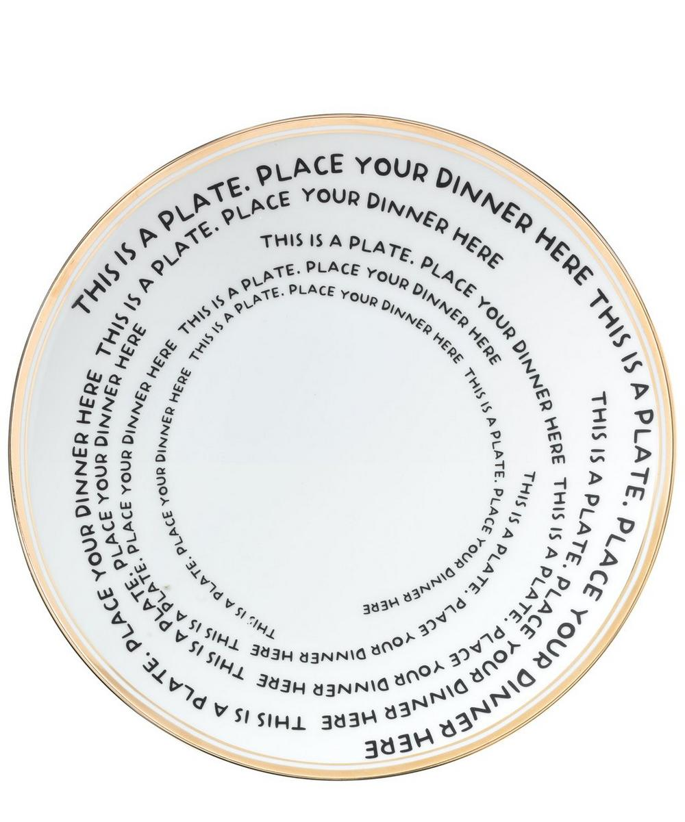 This Is A Plate Decal Dinner Plate