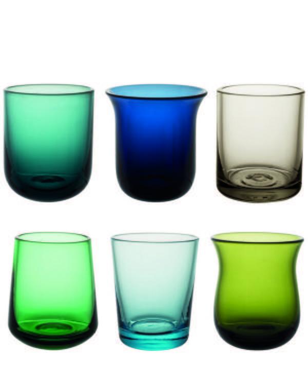 Assorted Glass Shot Glasses Set of Six