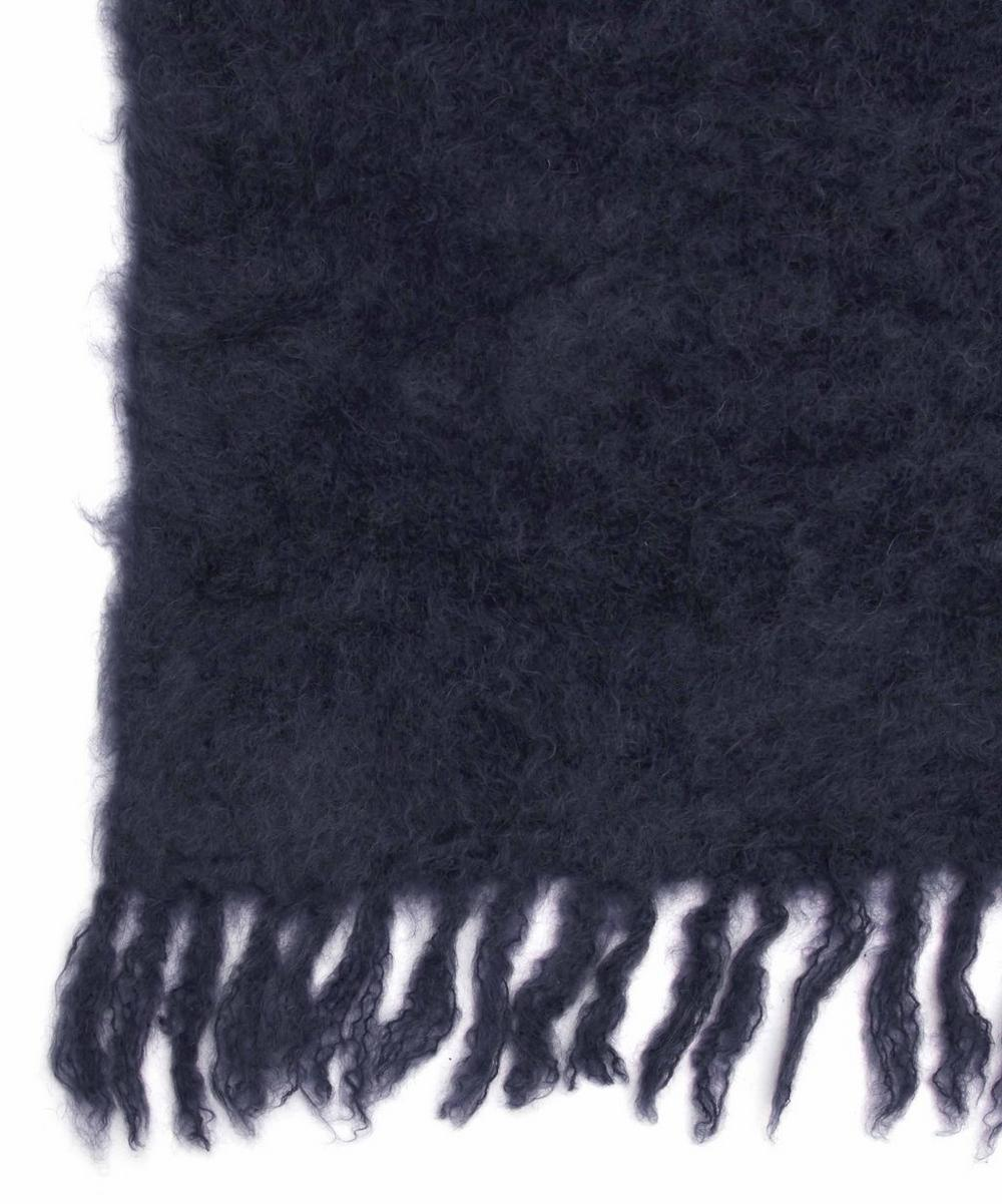 Midnight Blue Mohair-Blend Blanket