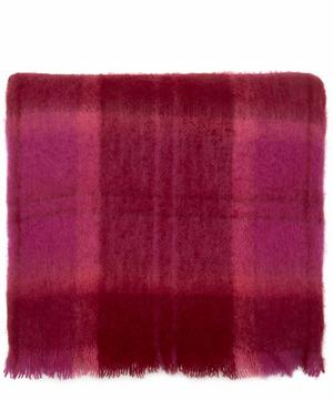 Spring Plaid Mohair-Blend Blanket