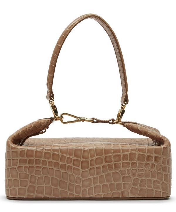 Olivia Croc Leather Box Bag