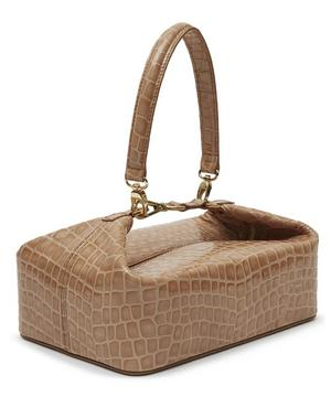 Olivia Croc Leather Box Bag