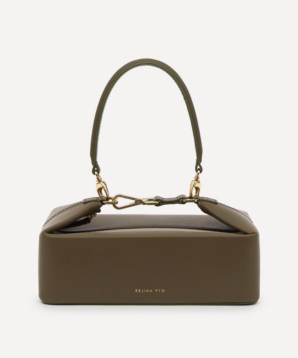 Rejina Pyo Leathers OLIVIA CROC LEATHER BOX BAG