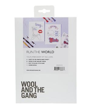 Run The World Embroidery Kit