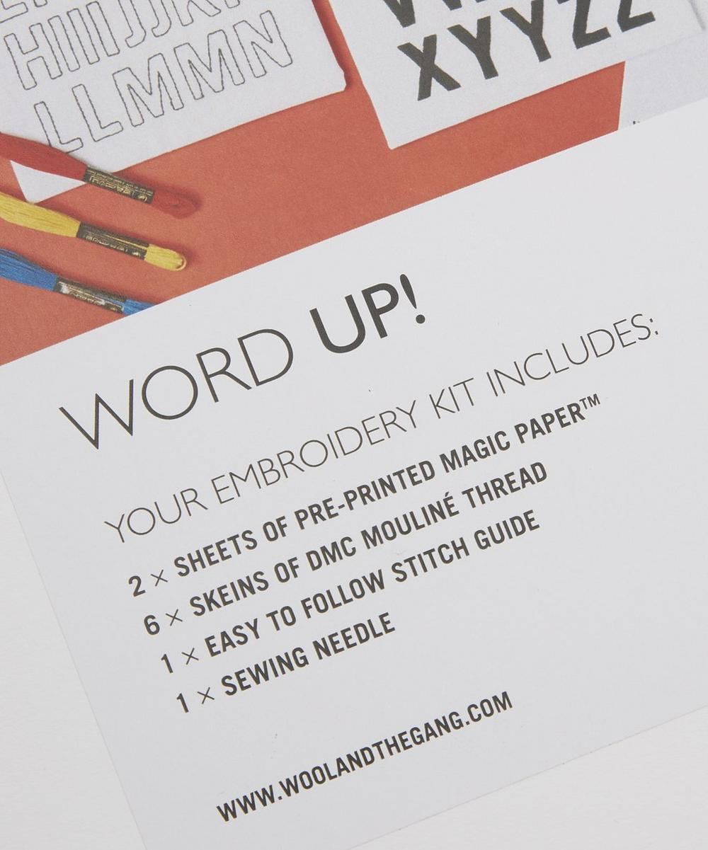 Word Up Embroidery Kit