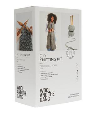 Triple Threat Scarf Knitting Kit