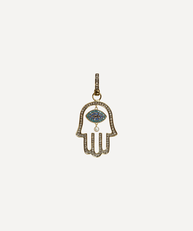 fa8e6247884ef 18ct Gold Mythology Hand of Fatima Pendant   Liberty London